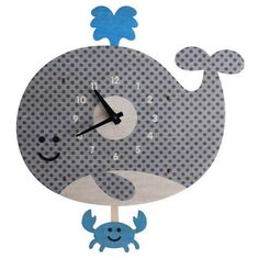 These adorable Pendulum Clocks are unique, fun, funky 3D items that are perfect for your Poshinate kiddos room or playroom!  Actually they are a whimsical addit