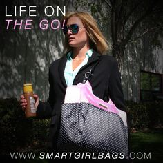 The Classy Sassy Tote by SmartGirl Bags is the perfect tote for career and work. No more digging through a big black hole - get what you need when you need it with this bag's organization built in. Oh and Sassy? yes - look super sassy with this classic black and white polka dot motif. Available at www.smartgirlbags.com #smartgirlbags #organized #designerbags #classybags