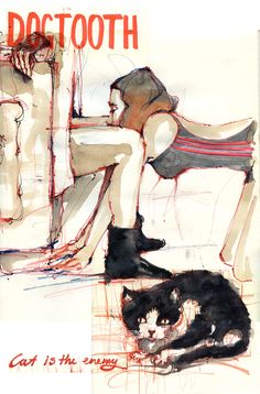 Illustration by Demi Kaia of the film 'DOGTOOTH' by Yorgos Lanthimos. Not to be missed.