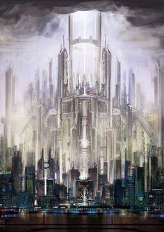 Cyberpunk Atmosphere, Futuristic City by ~Zhangx