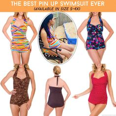 The BEST pin up swimsuit EVER under $30! via @sheenatatum #summertimefine #cheappinupswimsuit
