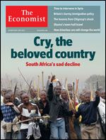 South Africa: Over the rainbow  It has made progress since becoming a full democracy in 1994. But a failure of leadership means that in many ways, South Africa is now going backwards (Read this insightful, if troubling lead article in the Economist of 20th October 2012)