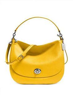 Coach Turnlock Leather Hobo Bag c826ff8a5c61b