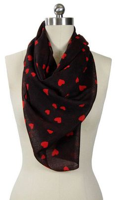 Heart Warming Printed Scarf