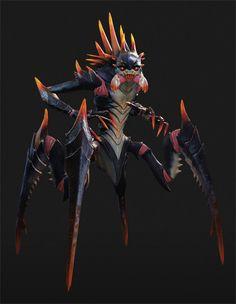 The alien concept art of XCOM 2 Alien Concept Art, Creature Concept Art, Creature Design, Monster Design, Monster Art, Alien Creatures, Fantasy Creatures, Character Art, Character Design