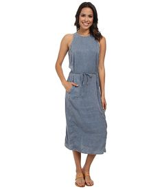 Calvin Klein Jeans Calvin Klein Jeans  Slim Shoulder Sinch Dress Blur Womens Dress for 79.99 at Im in!