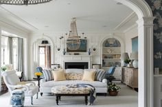 (Phoro 1 of 4) Can't get enough of this Living Room w/ it's Stunning, Elegant Architectural Details & Amazing Furniture & Decor!!! ~ Douglas VanderHorn Architects   Shingle Style   Living Room