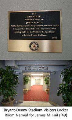 University of Alabama Crimson Tide -The Fail Room - the visitors locker room at Bryant Denny football Stadium