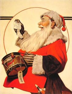 """odditiesoflife: """" Vintage Christmas Illustrations from Norman Rockwell It's that time of year again. As each year passes, the holiday season seems to start earlier with Christmas ads appearing before. Peintures Norman Rockwell, Norman Rockwell Art, Norman Rockwell Paintings, Jorge Guzman, The Saturdays, Norman Rockwell Christmas, Retro, Willem De Kooning, Gil Elvgren"""