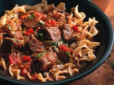 Hungarian beef goulash in the crock pot.Craig mentioned you like goulash. Going to make this Sunday, looks really good and easy! Low Sodium Recipes, Ww Recipes, Great Recipes, Cooking Recipes, Recipies, Diabetic Recipes, Low Sodium Meals, Salt Free Recipes, Sodium Foods
