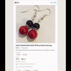 For nadpoleon81 Red and black earrings per orig listing Jewelry Earrings