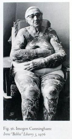 older woman with tattoos