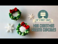 Mini Wreath Cupcakes Tutorial on Cake Central