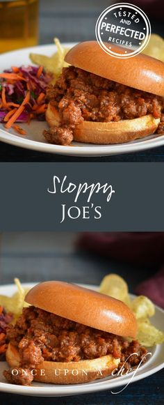 (TESTED & PERFECTED RECIPE) Smoky, spicy Sloppy Joes made from scratch (read: no ketchup or seasoning packets). Perfect for weeknights and football season! Meat Recipes, Cooking Recipes, Sandwich Recipes, Savoury Recipes, Chef Recipes, Savoury Dishes, Recipies, Healthy Recipes, Sloppy Joes Recipe