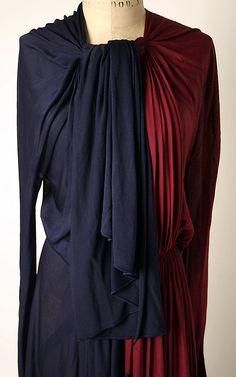 Madame Grès Dress - detail - 1937-38 - by Madame Grès (Alix Barton)  (French, 1903-1993) - Silk - @~ Mlle