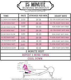 Rowing machine workout