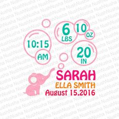 Baby Birth Announcement SVG, DXF, PNG, eps, cdr, Vector, Digital Cut File by NushNusha on Etsy