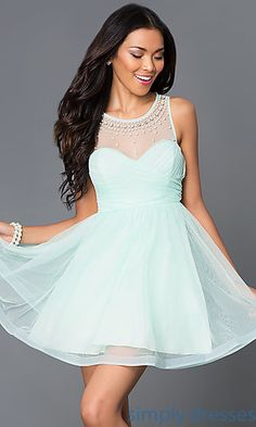 Short Sleeveless Dress 2575MT1P by Sequin Hearts at SimplyDresses.com