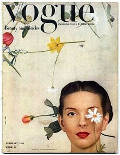 British Vogue February 1945. #vintage #magazine