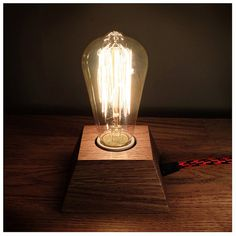 Edison Lamp,Wood Lamp,Wooden Edison Lamp,Table Lamp,Solid Wood Lamp,Retro Lamp,Night Lamp Edison Lamp, Edison Lighting, Cool Lighting, Edison Bulbs, Industrial Workspace, Industrial Design, Steampunk Lamp, Cool Lamps, Wooden Lamp