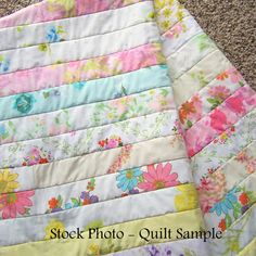 Vintage Sheets Jelly Roll Quilt Strips / Jelly by FallingCoconuts