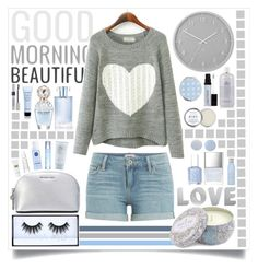 """""""Gorgeous In Grey"""" by angelstylee ❤ liked on Polyvore featuring Paige Denim, Umbra, Drybar, MICHAEL Michael Kors, Butter London, Marc Jacobs, Huda Beauty, Christian Dior, Orlane and Estée Lauder"""