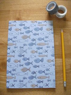 A5 Fish notebook - Lined paper pages or A5 Fish Sketchbook - Plain paper pages  This A5 notebook/sketchbook consists of 48 pages of lined/plain