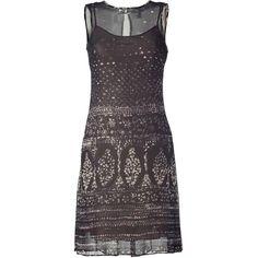 HOSS INTROPIA Black Multi Color Printed Silk Dress found on Polyvore
