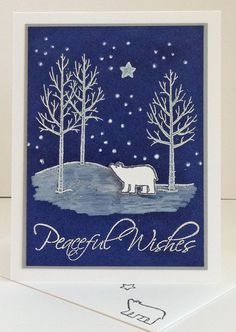 White Christmas by Heather - Peaceful Wishes sentiment is from the retired set Peaceful Wishes.
