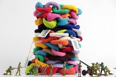 Crochet 'paper chains'