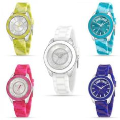 Orologio-Donna-JUST-CAVALLI-JUST-DREAM-Silicone-Camouflage-Colorato-Swarovski-JC
