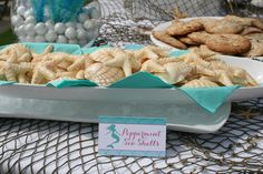 White chocolate peppermint seashells - perfect for a beach wedding or mermaid party