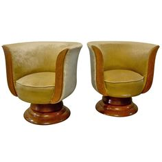 Pair of 1920 39 s art deco shell back boudoir chairs art deco furniture velvet and deco furniture - Deco lounge oud en modern ...