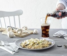 Κριθαρότο με άγρια μανιτάρια και κατσικίσιο τυρί