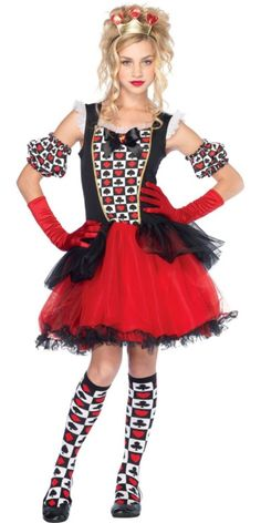 Playing Cards Queen Costume for Teen Girls , Halloween City