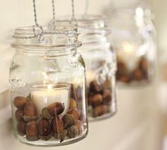 Autumn Home Decoration Ideas – Decorate With Chestnuts and Acorns