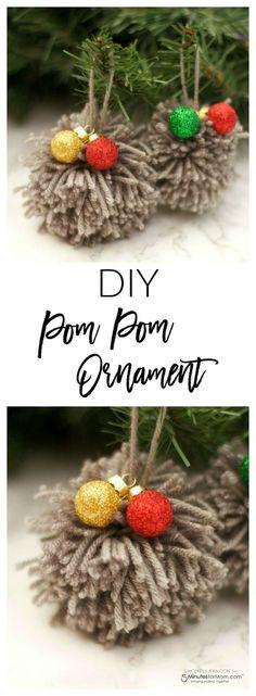 DIY Pom Pom Ornament - Easy Christmas Craft