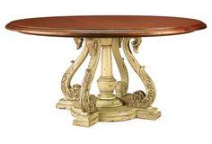 Aspen Dining Table, Parchment