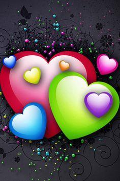 Colorful Hearts Screen Saver