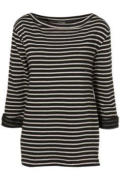 Striped Breton Sweat - Topshop