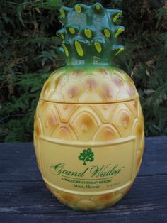 Plastic Pineapple Tiki Mug/Cup Grand Wailea Maui, Hawaii Bank