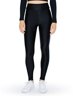 American Apparel Women Nylon Tricot High-Waist Leggings ** This is an Amazon Affiliate link. You can find more details by visiting the image link.