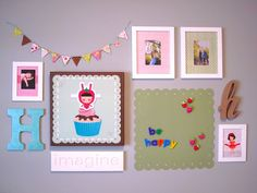 {i decorate} hannah's art wall. from Daffodil Design