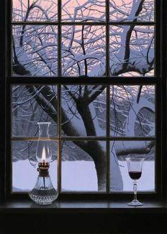 #wine #snow #christmas