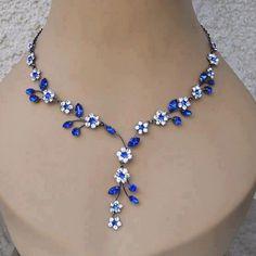 Blue Flower #Necklace #jewelry