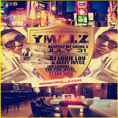 Y MILLZ BDAY BASH LP RELEASE PARTY- 07.31.14 Inc Lounge The Time Hotel - NYC Free Admission - Y MILLZ