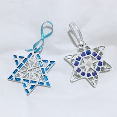 A personal favorite from my Etsy shop https://www.etsy.com/listing/493162419/mini-star-of-david-ornament-jewish