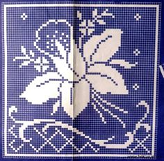 Tabletici Heklanje Sheme By Anita 25 Cross Stitch Tree, Cross Stitch Borders, Cross Stitch Flowers, Cross Stitch Patterns, Tapestry Crochet Patterns, Crochet Bedspread, Crochet Curtains, Crochet Numbers, Crochet Placemats