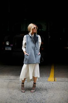 shirt dress & vest. yes. NYC.
