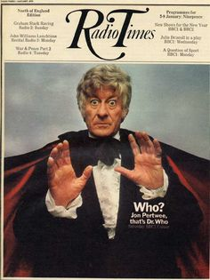 """""""Radio Times"""" presents Jon Pertwee as the third Dr. Who (Radio Times Cover, Jan 1970)"""